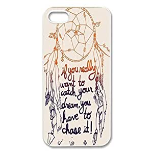 Dream Catcher Keep Your Dream New Style Hard Cover Case Cover for iPhone 5 5s white case