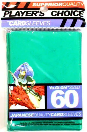 YuGiOh Players Choice 60 Count YuGiOh Size Japanese Quality Gaming Card Sleeves Green by Player's Choice