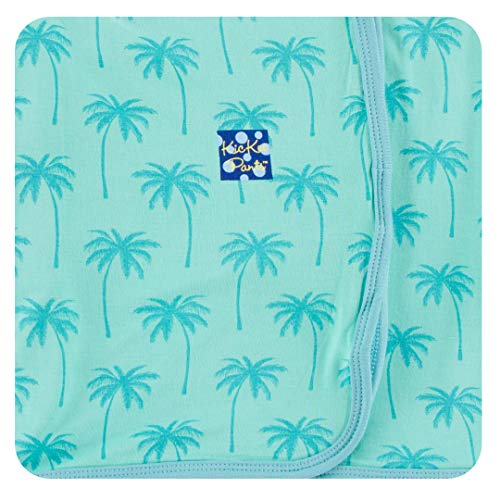 KicKee Pants Print Swaddling Blanket in Glass Palm Trees - One Size