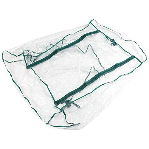 Fdit Portable Winter Outdoor Transparent PVC Mini Greenhouse Cover Waterproof 27.17