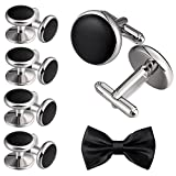 Aienid Wedding Business Classic Cufflinks for Men Unique Cufflinks Set Studs for Men Stainless Steel