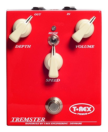 T-Rex Engineering TREMSTER-CLASSIC Tremolo/Vibrato Guitar Effects Pedal; Hand Wired in Denmark, Classic Vintage Tube Amp Tremolo/Vibrato Tone - Classic Effect Tremolo