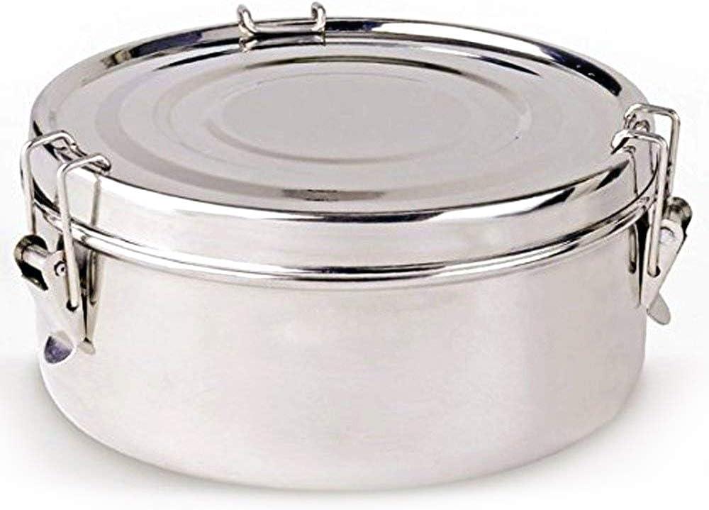 LS Kitchen - Fiambrera 2 Platos - Acero Inoxidable - 18 cm - Plata
