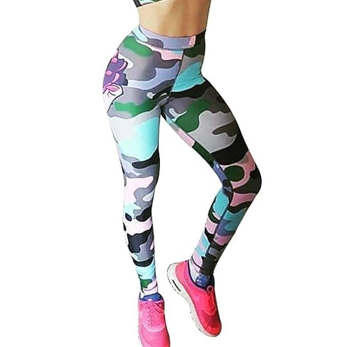 Mujer Skinny Pantalones Largo Moda Monstruo de Navidad Impreso Slim Fit Pantalon Cómodo Cintura Elástica Casual
