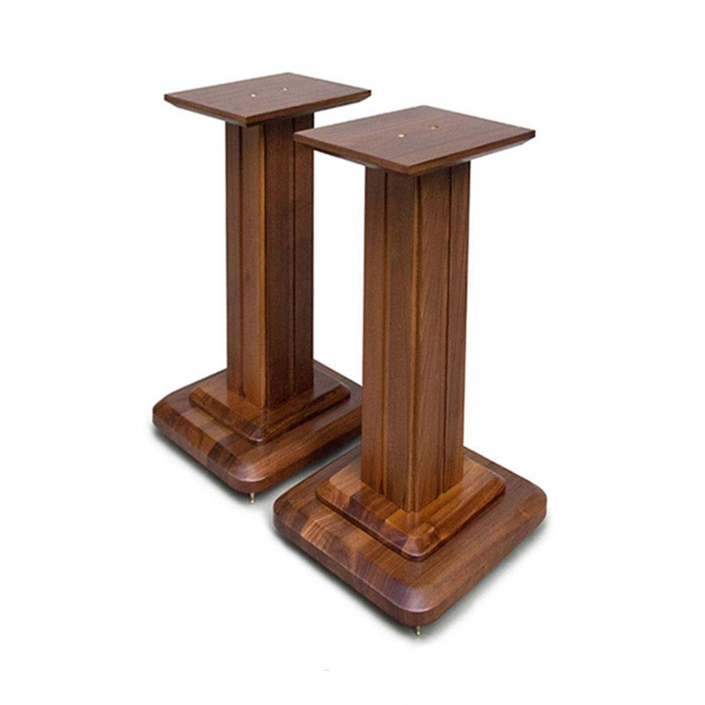 Speaker Stands Monitor Stands Bookshelf Audio Stand Living Room Flower Stand Home Theater Surround Shelf A Pair Home Theatre (Color : Wood Color, Size : 282850cm) by Speaker Stands