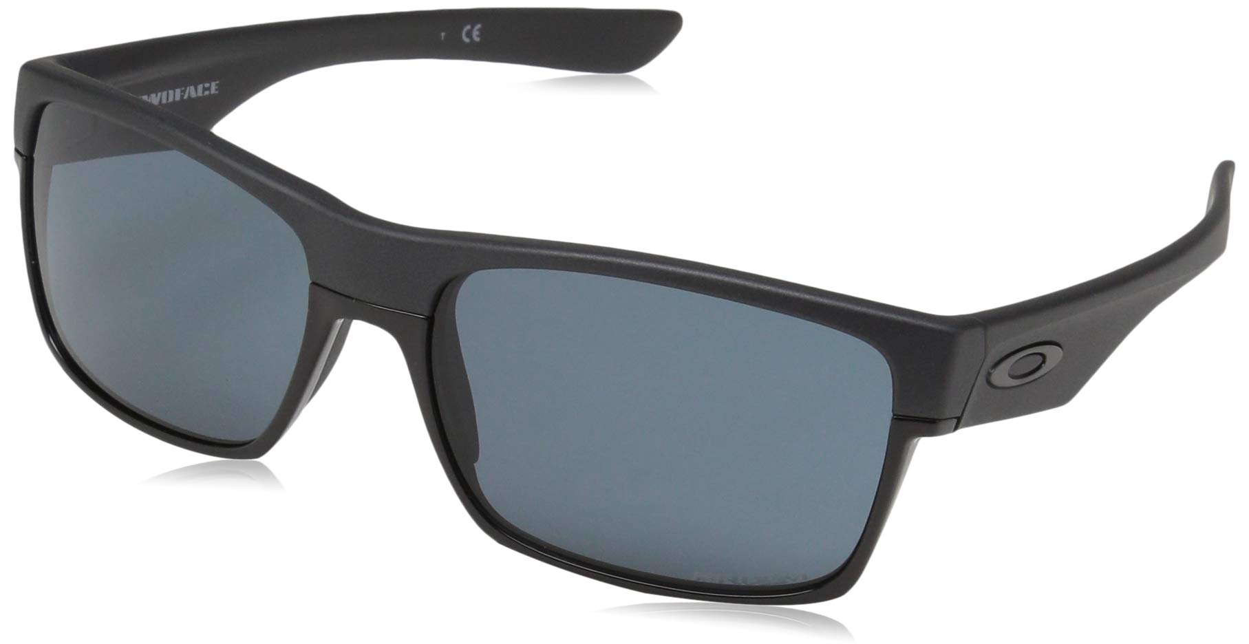 Oakley Men's OO9189 TwoFace Square Sunglasses, Steel/Prizm Grey, 60 mm