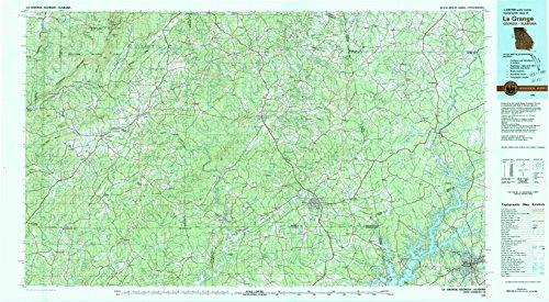 Grange Garden (La Grange GA topo map, 1:100000 scale, 30 X 60 Minute, Historical, 1978, updated 1980, 24.1 x 43.9 IN - Tyvek)