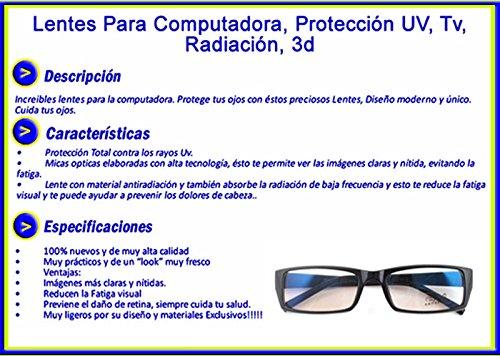 Lentes Para Computadora Antirreflejante Vista Cansada Uv  Amazon.com.mx   Electrónicos 4cf76040aac5