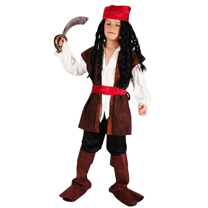 Jitong Disfraz De Pirata Para Ninos Trajes Halloween De Cosplay - Trajes-de-hallowen