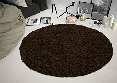 Brown Contemporary Polypropylene Rug (Sweet Home Stores Cozy Shag Collection Solid Shag Rug, 5'3