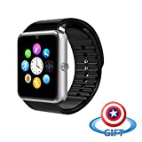 VALLENN Water Resistant Smart Watch Anti Lost and Handfree for Android 4.2 or above and Iphone 5s/6/6s/7/7s (Silver)