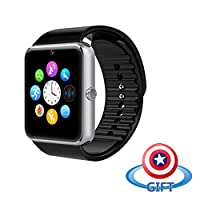 SUMBOAT Water Resistant Smart Watch Anti Lost and Handfree for Android 4.2 or Above and iPhone (Silver)