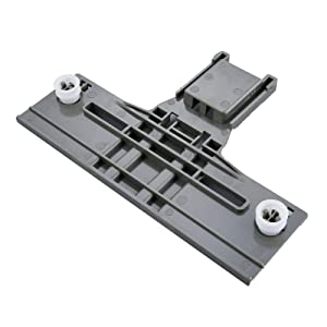 Dishwasher Top Rack Adjuster For Whirlpool KitchenAid Kenmore Jenn-Air W10350376 W10712394VP WPW10350376 PS10064063 w/ 0.90 Inch Diameter Wheels (Redesigned for Heavy Duty Wheel Support)