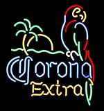 Corona Parrot Palmtree Extra Neon Beer Bar Sign