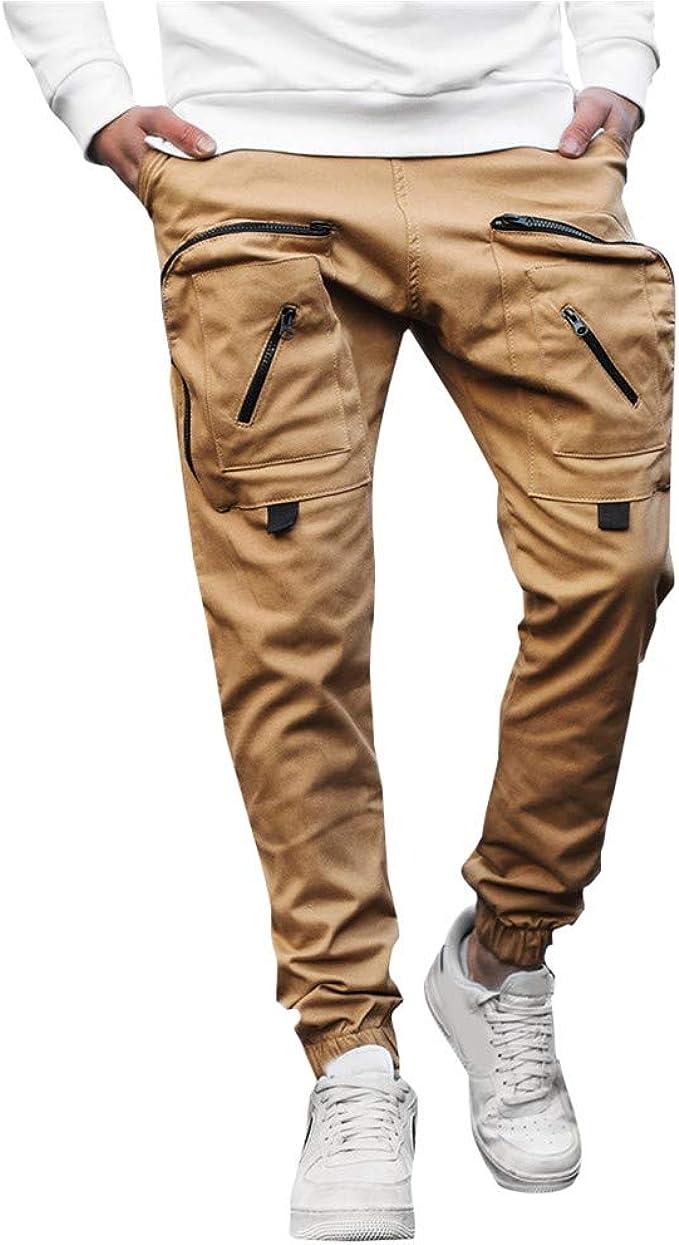 HEETEY – Pantalones de chándal para Hombre, monocromos, con Varios ...