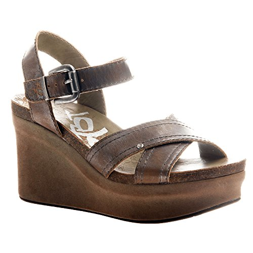 OTBT Women's Bee Cave Wedge Sandals Pewter 10 -