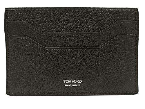 Tom Ford Brown Grained Leather Card - Ford Wallets For Tom Men