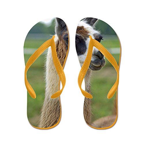CafePress Llama2_LP - Flip Flops, Funny Thong Sandals, Beach Sandals Orange