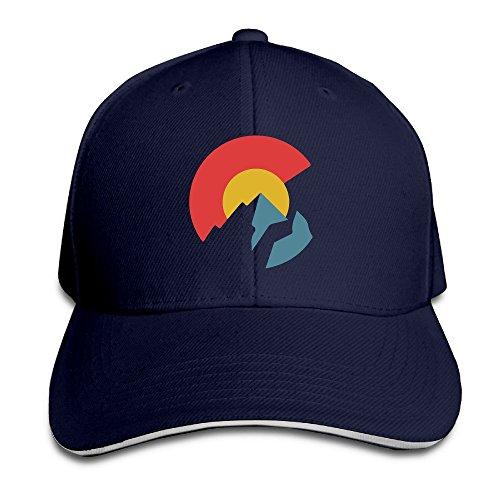 Colorado Flag Navy Adjustable Baseball Caps Unisex Sandwich Hats (Trukfit Cap)