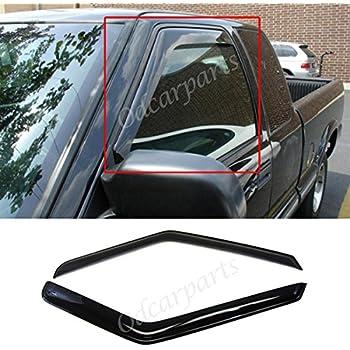 VioGi Fit:94-04 Chevy S10 95-05 Blazer 2-Door 94-04 GMC Sonoma 95-01 S15 Jimmy 2-Door 96-00 Isuzu Hombre 2pcs Front Smoke Sun/Rain Guard Vent Shade Window Visors