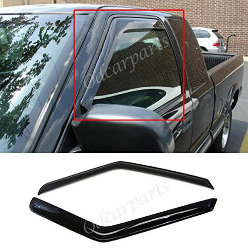 VioGi Fit 94-04 Chevy S10 95-05 Blazer 2-Door 94-04 GMC Sonoma 95-01 S15 Jimmy 2-Door 96-00 Isuzu Hombre 2pcs Front Smoke Sun/Rain Guard Vent Shade Window Visors