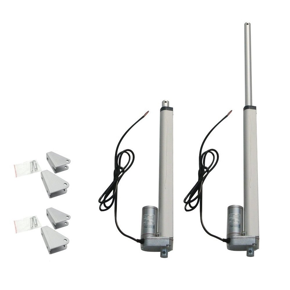 Mounting Brackets ECO-WORTHY 2pcs 10 Inch 10 Stroke Linear Actuator 12 Volt 12V 330 Pounds lbs Maximum Lift