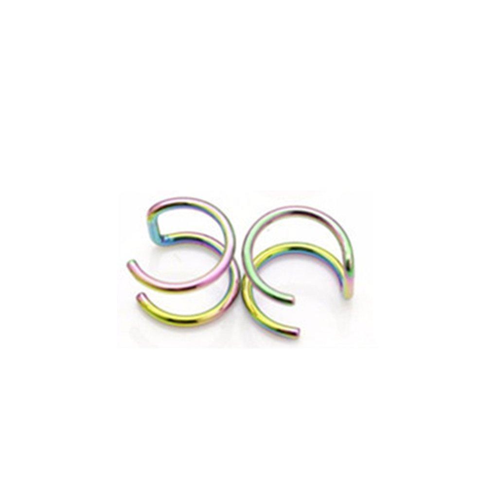 Bobury Punk Rock Ear Clip Cuff Wrap Earrings No Piercing-Clip Hollow U Shaped Earrings Non Piercing Jewelry Earrings