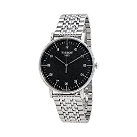 Tissot Everytime T109.610.11.077.00 Black/Silver Stainless Steel Analog Quartz Men's Watch