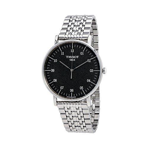 tissot-everytime-t1096101107700-black-silver-stainless-steel-analog-quartz-mens-watch