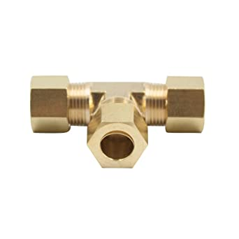 Vis Brass Compression Tube Fitting Pack of 20 1//8 x 1//8 x 1//8 Tube OD Tee