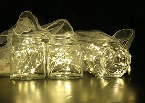 DUKORA 6 PCS Fairy Lights LED String Lights Battery Operated 20 LED 7.2ft Firefly Lights Starry String Lights for DIY Wedding Centerpiece, Christmas Decoration, Bedroom Cool White by DUKORA (Image #3)