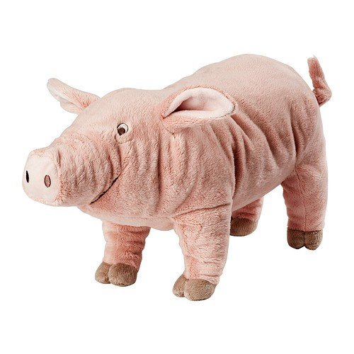 Knorrig Ikea Pig Hog Farm Stuffed Animal Children's Soft Toy Play, Pink