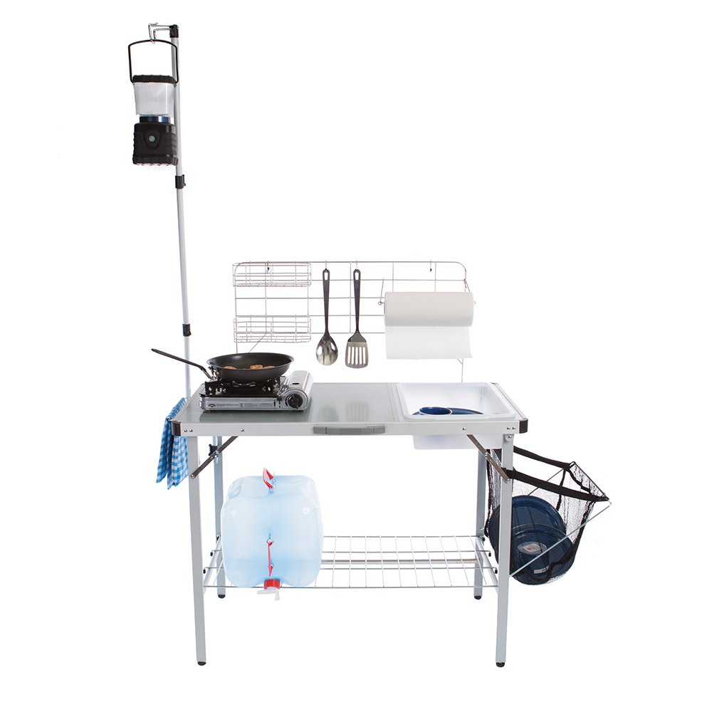 Amazon.com : Stansport Deluxe Portable Fold-Up Camp Kitchen : Sports ...