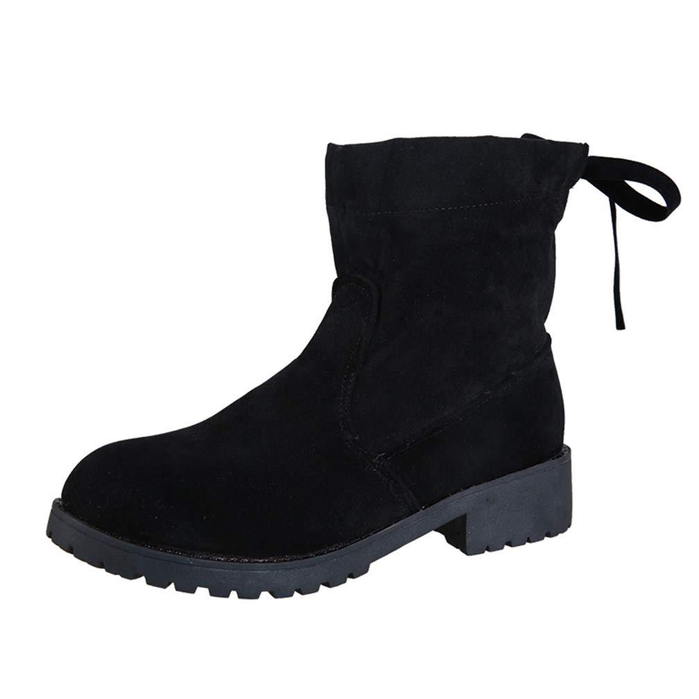 Autumn Winter Women Ankle Boots Slip-on Snow Boots Ladies Black Casual Shoes Fashion Plush Shoes