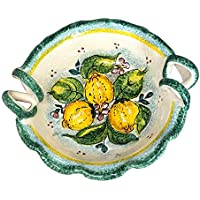 CERAMICHE D'ARTE PARRINI - Italian Ceramic Art Pottery Serving Small Bowl Centerpieces Hand Painted Decorated Lemons Made in ITALY Tuscan