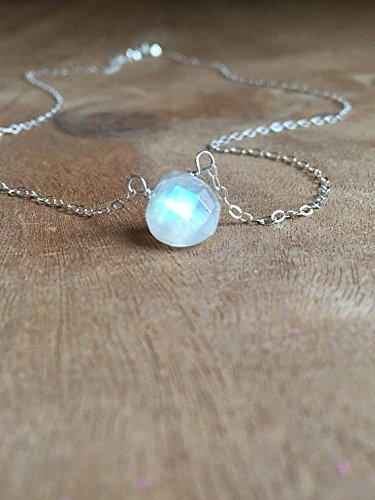 Dainty Moonstone Necklace 16