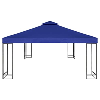 Festnight 10' X 10' Waterproof Gazebo Top Cover Patio Canopy Replacement Sunshade UV Blocking (Dark Blue): Garden & Outdoor