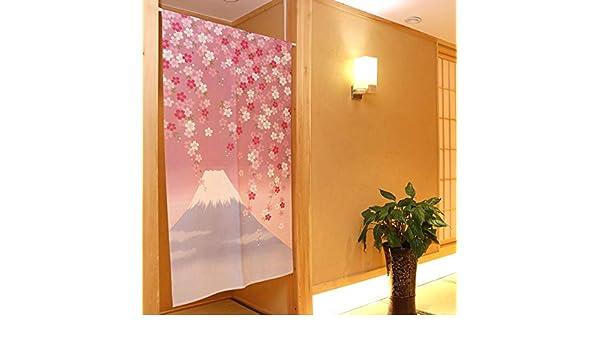 WSHINE Cortinas de árbol de la Vida, Cortina Japonesa Noren para Puerta con diseño de Hojas de bambú, Panel de Cortinas para Ventana para decoración del hogar, Tapiz de Pared, Separador de