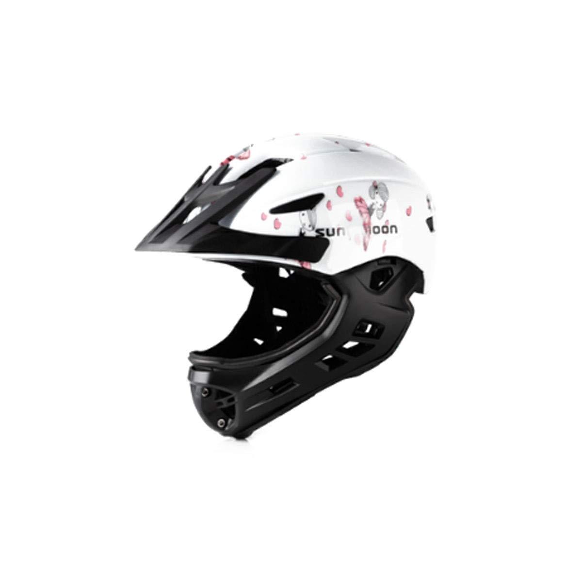 CQIANG 自転車、スクーター、およびローラースケートなどに適したフルフェイスヘルメット、4858cmの頭の周囲に最適、青、黄、白 ComfortSafety Medium White B07SCSL531