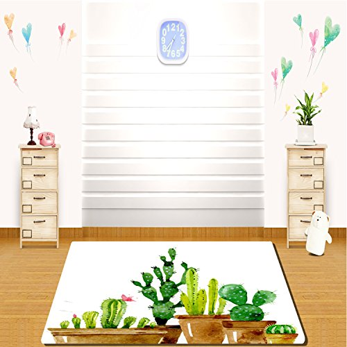 HAIXIA Soft Indoor Area Rug The cactus of different sizes is very cute -