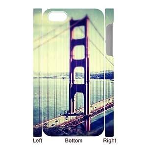SpecialCasedesign Personalized San Francisco Golden Gate Bridge iPhone 5 5S Case Best Durable Back Cover