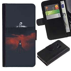 JackGot ( Muerte Arena )Samsung Galaxy S3 MINI i8190 (NOT S3) la tarjeta de Crédito Slots PU Funda de cuero Monedero caso cubierta de piel