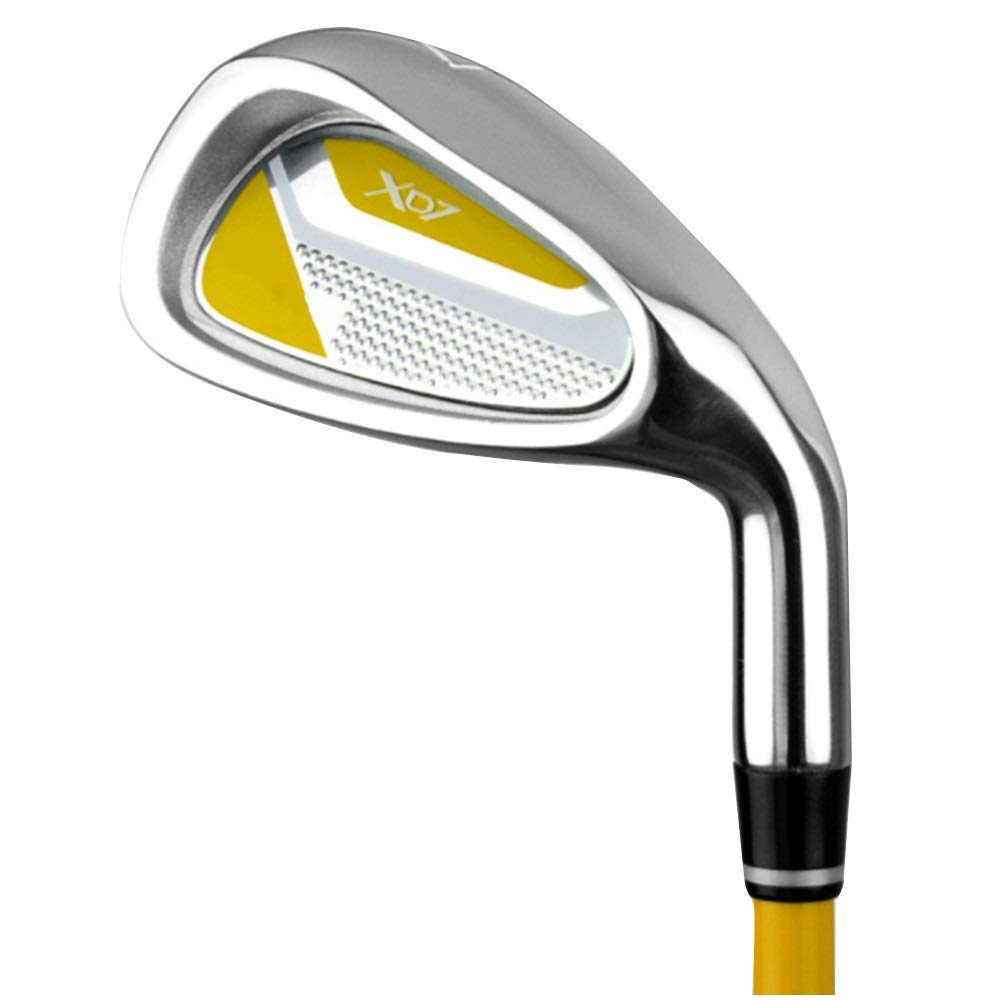 Golf Wedge Children Golf Putter Rod 7 Golf Practice Clubs With Good Rubber Grip For Girls Boys 3-5 Years Old,6-8 Years Old,9-12 Years Old Golf Iron set ( Color : 6-8Age-yellow , Size : Iron body ) by PUEEPDEE