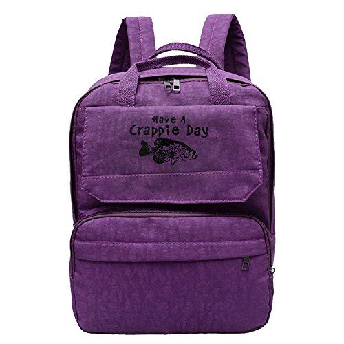 Woonmo Women's Leisure Shoulder Bag Perfect For School Bag Purple