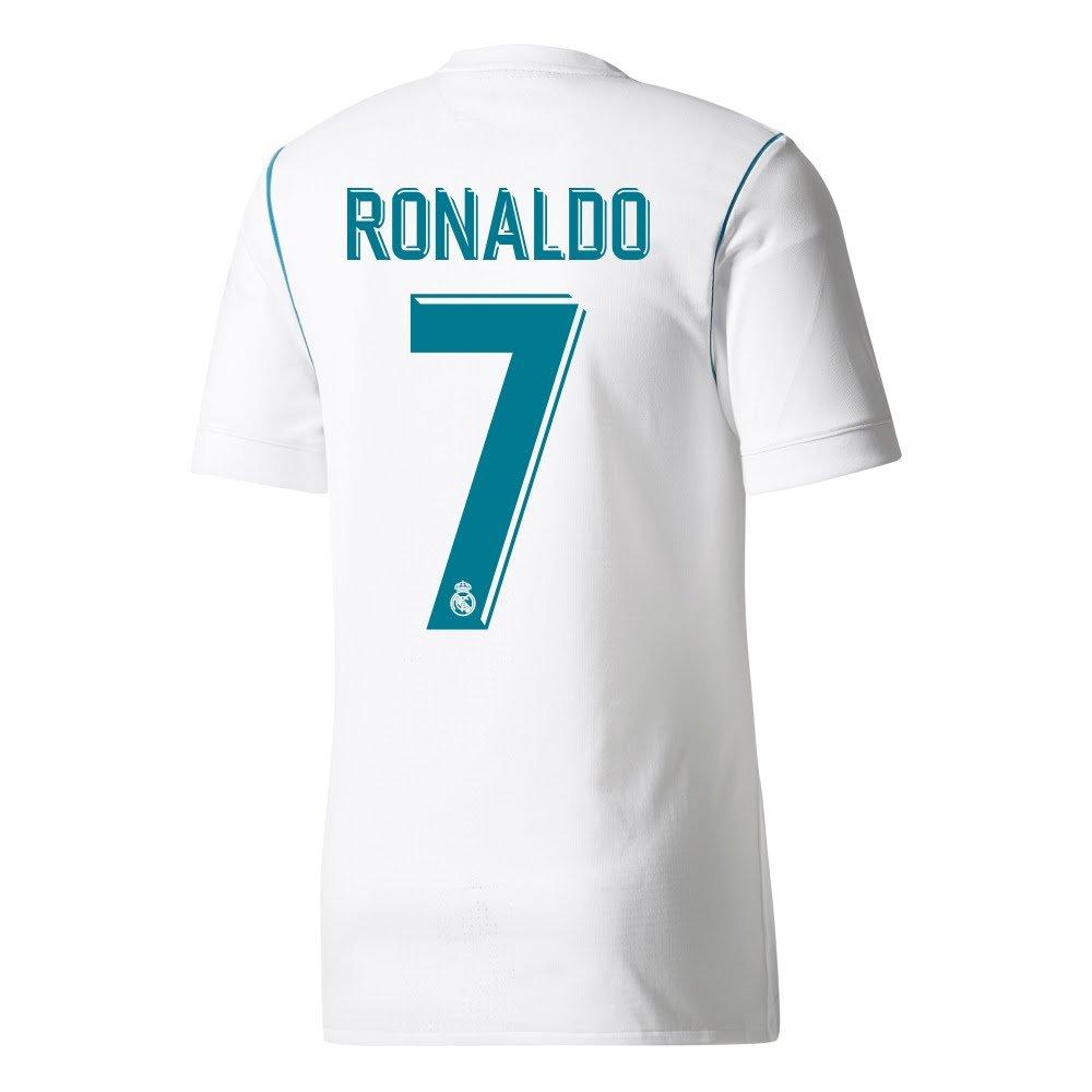 Real Madrid Home Authentic Adizero Ronaldo Jersey 2017 / 2018 ( Offical印刷) B07546NSX6Small