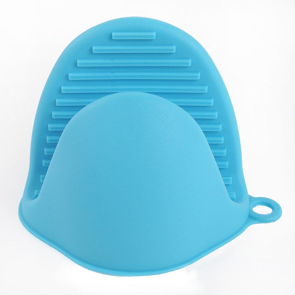 Manoplas de horno de silicona profesional resistente al calor para microondas y barbacoa con aislamiento grueso de goma guantes de horneado para ...