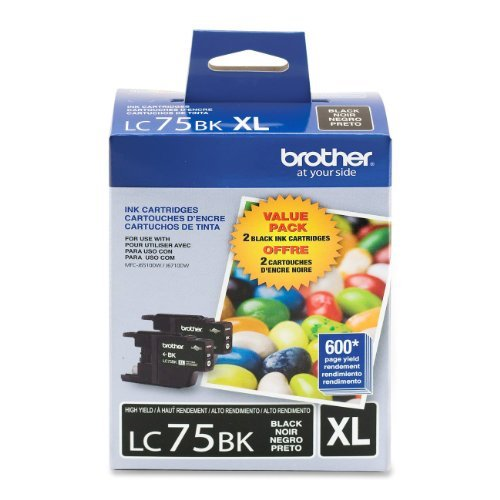 New Genuine Brother LC75BK Black Ink Cartridge LC-75 NOT ...
