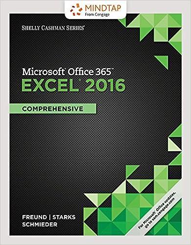 Bundle Shelly Cashman Series Microsoft Office 365 Excel 2016 Comprehensive Loose Leaf Version LMS Integrated MindTap Computing 1 Term 6 Months