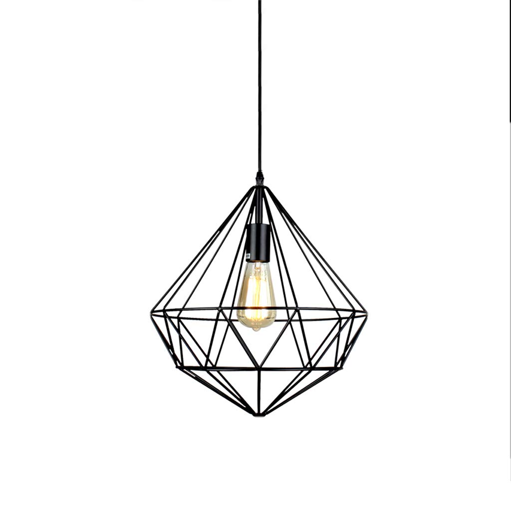 Nordic Industrial Style Wrought Iron Single Head Chandelier, Shop Lighting Chandelier Bar Table Lamp Retro Decorative Chandelier (C)