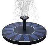 Weanas Solar Powered Fountain Pump, Garden Water Floating Pump Bird Bath Fountains Free Standing Outdoor Plants Watering With 4 Spray Heads